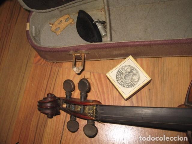 Instrumentos musicales: Ocasión Violín antiguo con funda para restaurar medida 59 cm.- madera buen estado - Foto 3 - 63677799