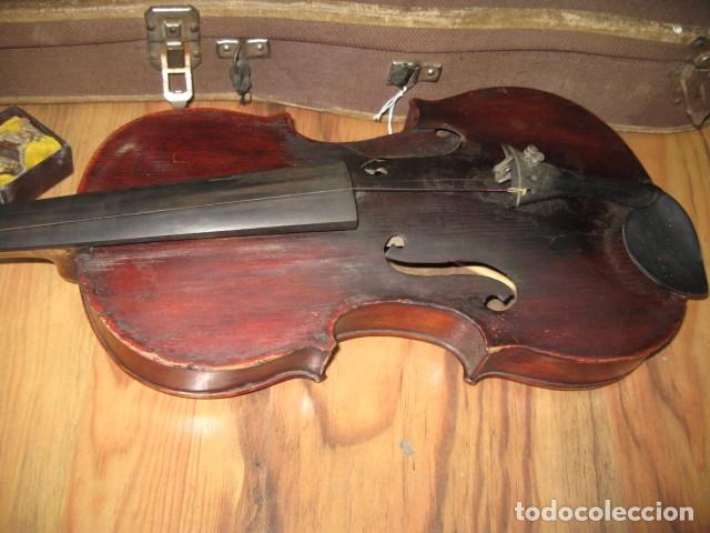 Instrumentos musicales: Ocasión Violín antiguo con funda para restaurar medida 59 cm.- madera buen estado - Foto 5 - 63677799