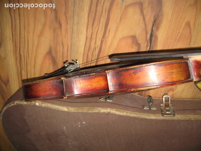 Instrumentos musicales: Ocasión Violín antiguo con funda para restaurar medida 59 cm.- madera buen estado - Foto 8 - 63677799