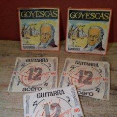 Instrumentos musicales: LOTE CUERDAS VARIADAS GUITARRA,,,SUELTAS 5 UNIDADES. Lote 64497967