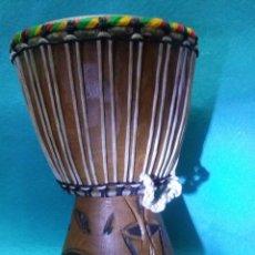 Instrumentos musicales: TIMBAL ETNICO JAMAICANO__REGGAE,,TALLADO A MANO__FABRICADO DE MANERA ARTESANAL. Lote 64735931