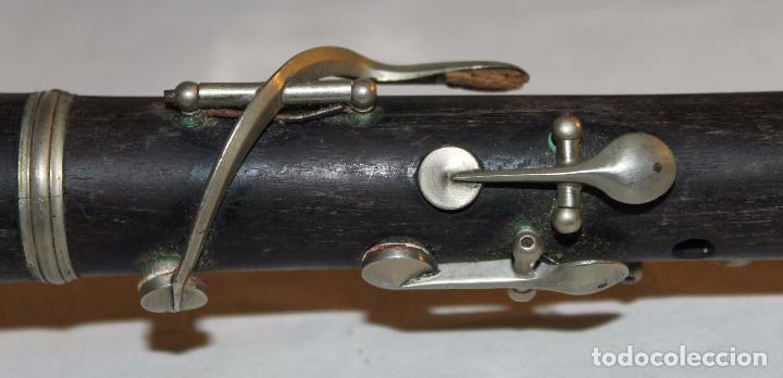 Instrumentos musicales: CLARINETE ANTIGUO DE PRINCIPIOS DEL SIGLO XX EN MADERA Y METAL - ESTUCHE DE MADERA ORIGINAL - Foto 12 - 65425787