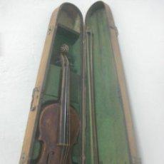 Instrumentos musicales: TREMENDO VIOLIN DEL SIGLO XVIII EN SU MALETIN ORIGINAL Y CON SU ARCO DE ORIGEN BULGARO, EXCELENTE. Lote 65749850