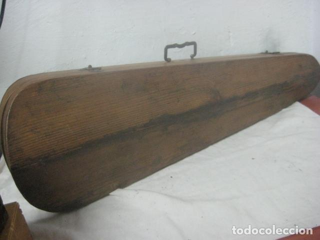 Instrumentos musicales: TREMENDO VIOLIN DEL SIGLO XVIII EN SU MALETIN ORIGINAL Y CON SU ARCO DE ORIGEN BULGARO, EXCELENTE - Foto 5 - 65749850
