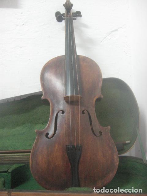 Instrumentos musicales: TREMENDO VIOLIN DEL SIGLO XVIII EN SU MALETIN ORIGINAL Y CON SU ARCO DE ORIGEN BULGARO, EXCELENTE - Foto 8 - 65749850