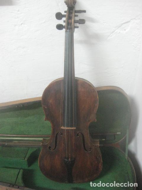 Instrumentos musicales: TREMENDO VIOLIN DEL SIGLO XVIII EN SU MALETIN ORIGINAL Y CON SU ARCO DE ORIGEN BULGARO, EXCELENTE - Foto 13 - 65749850