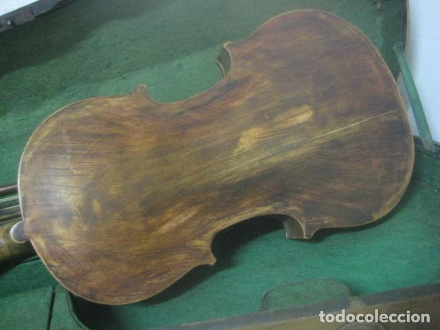 Instrumentos musicales: TREMENDO VIOLIN DEL SIGLO XVIII EN SU MALETIN ORIGINAL Y CON SU ARCO DE ORIGEN BULGARO, EXCELENTE - Foto 14 - 65749850
