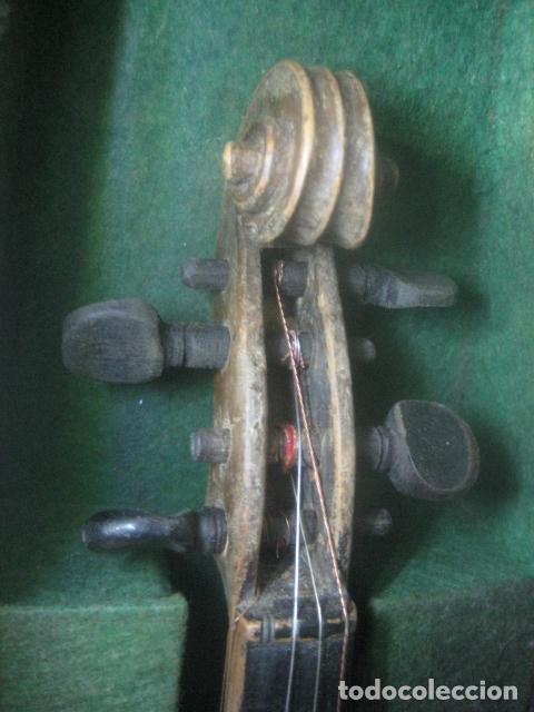 Instrumentos musicales: TREMENDO VIOLIN DEL SIGLO XVIII EN SU MALETIN ORIGINAL Y CON SU ARCO DE ORIGEN BULGARO, EXCELENTE - Foto 15 - 65749850