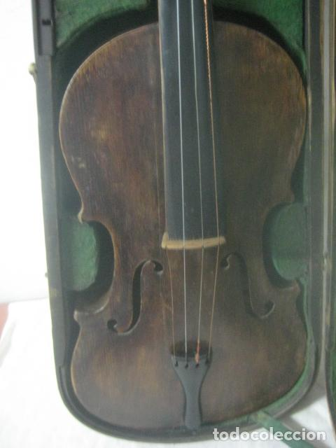 Instrumentos musicales: TREMENDO VIOLIN DEL SIGLO XVIII EN SU MALETIN ORIGINAL Y CON SU ARCO DE ORIGEN BULGARO, EXCELENTE - Foto 16 - 65749850