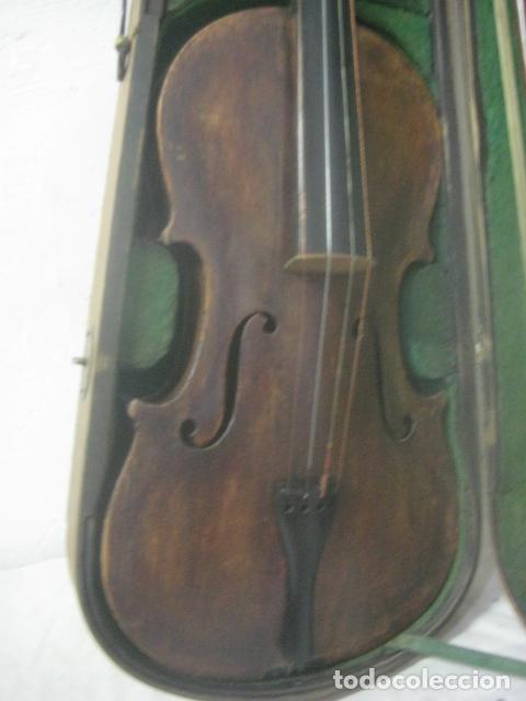 Instrumentos musicales: TREMENDO VIOLIN DEL SIGLO XVIII EN SU MALETIN ORIGINAL Y CON SU ARCO DE ORIGEN BULGARO, EXCELENTE - Foto 23 - 65749850