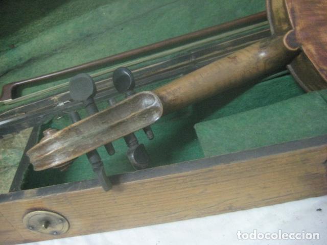 Instrumentos musicales: TREMENDO VIOLIN DEL SIGLO XVIII EN SU MALETIN ORIGINAL Y CON SU ARCO DE ORIGEN BULGARO, EXCELENTE - Foto 26 - 65749850