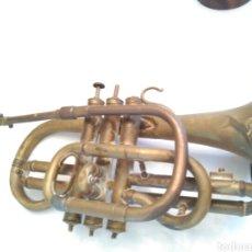Instrumentos musicales: ANTIGUA TROMPETA TRES PISTONES. Lote 66479274