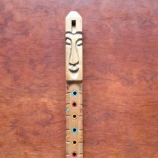 Instrumentos musicales: TARKA FLAUTA ANDINA MEDIDAS 4 X 50 CM. Lote 67009001