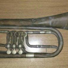Instrumentos musicales: TROMPETA GRANDE STOWASSER SIGLO XIX. Lote 67073839