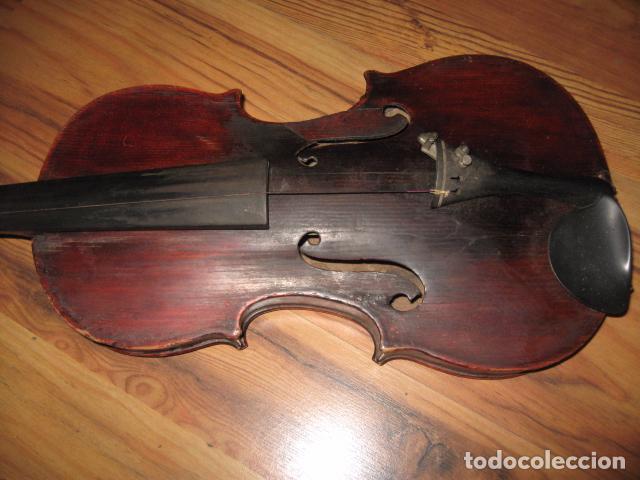 Instrumentos musicales: Ocasión Violín antiguo con funda para restaurar medida 59 cm.- madera buen estado - Foto 9 - 63677799