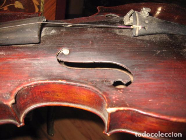 Instrumentos musicales: Ocasión Violín antiguo con funda para restaurar medida 59 cm.- madera buen estado - Foto 11 - 63677799