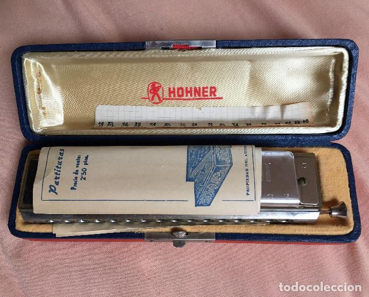 Instrumentos musicales: ARMONICA para coleccionistas M. Hohner - Germany CON ESTUCHE Y PARTITURAS HARMONICA RONDIN DULZAINA - Foto 2 - 67988841