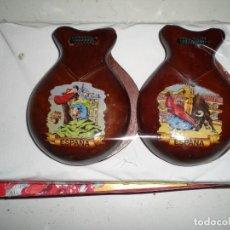 Instrumentos musicales: CASTAÑUELAS NUEVAS SIN USO HECHA EN ESPAÑA SOUVENIR AÑOS 70 TARREGA VALENCIA. Lote 68179665