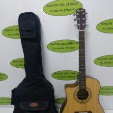 Instrumentos musicales: GUITARRA ELECTROACUSTICA FENDER CD-100CELH NAT CON FUNDA Y PUAS. Lote 70176967