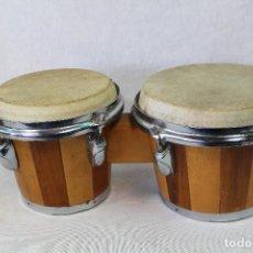 Instrumentos musicales: BONGOS LATINOS, TAMBORES. Lote 71429507