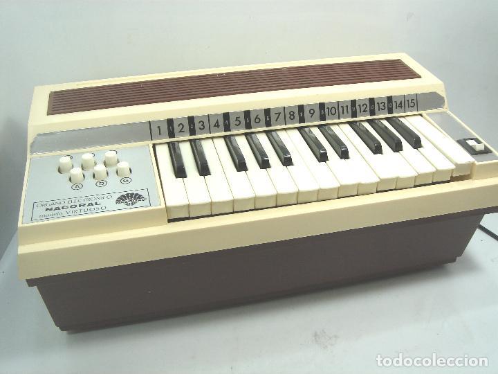 TECLADO ORGANO VIENTO - MARCA NACORAL MOD: VIRTUOSO SPAIN AÑOS 60 - PIANO ELECTRONICO ¡¡FUNCIONANDO¡ (Música - Instrumentos Musicales - Teclados Eléctricos y Digitales)