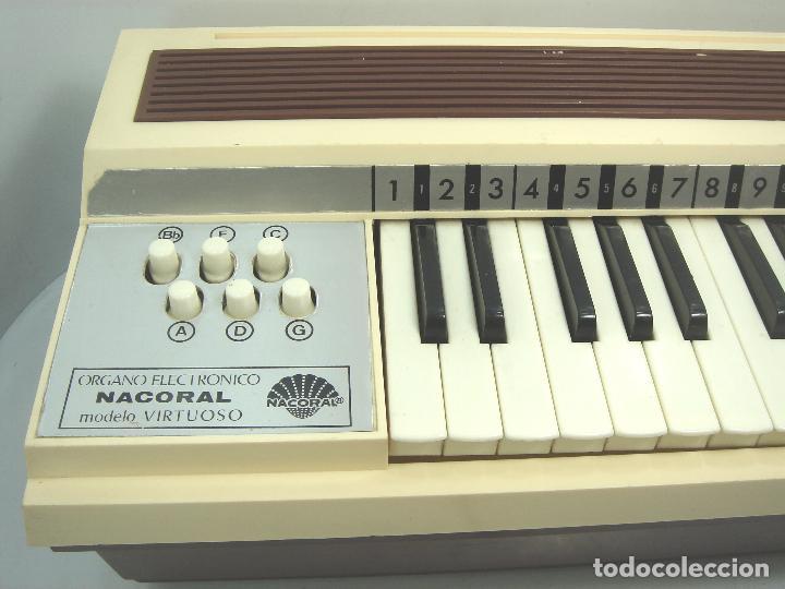 Instrumentos musicales: TECLADO ORGANO VIENTO - MARCA NACORAL MOD: VIRTUOSO SPAIN AÑOS 60 - PIANO ELECTRONICO ¡¡FUNCIONANDO¡ - Foto 2 - 72053311