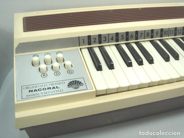Instrumentos musicales: TECLADO ORGANO VIENTO - MARCA NACORAL MOD: VIRTUOSO SPAIN AÑOS 60 - PIANO ELECTRONICO ¡¡FUNCIONANDO¡ - Foto 4 - 72053311
