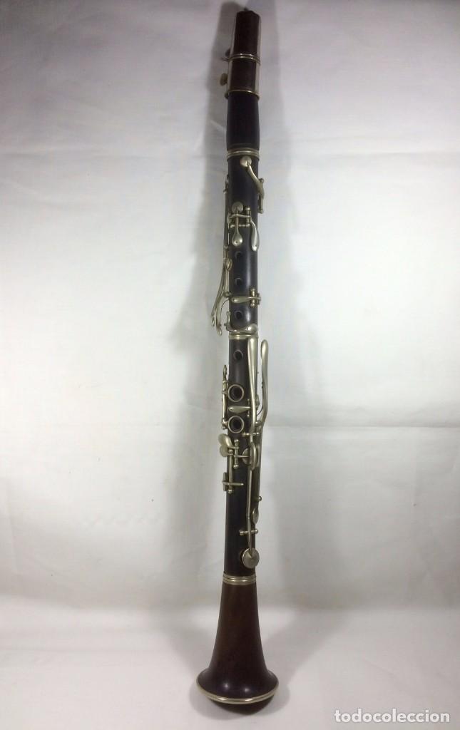 Instrumentos musicales: Antiguo Clarinete en madera con su estuche original. Finales S.XIX - Principios S.XX ébano y caoba - Foto 5 - 72327027