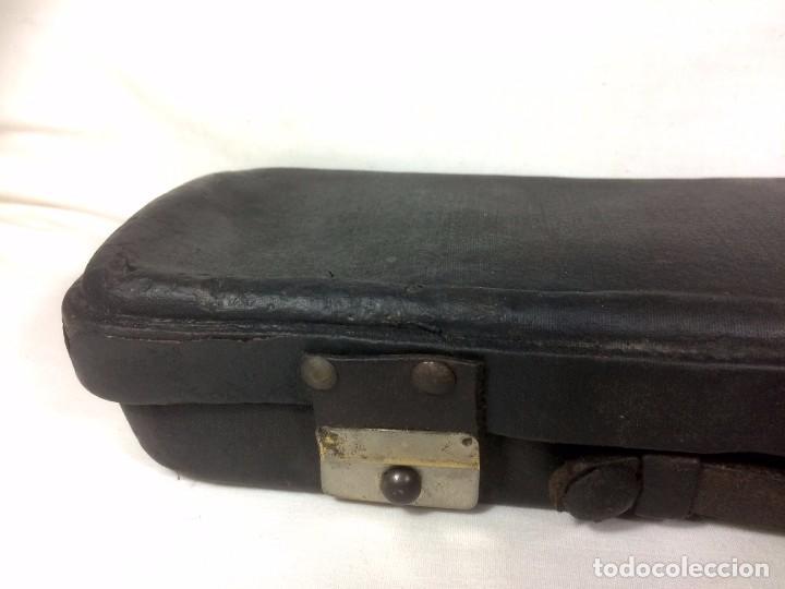 Instrumentos musicales: Antiguo Clarinete en madera con su estuche original. Finales S.XIX - Principios S.XX ébano y caoba - Foto 9 - 72327027