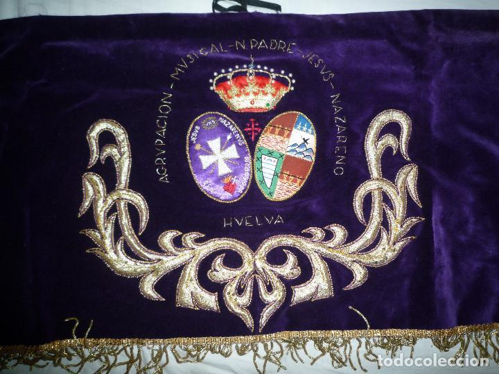 GALA DE TAMBOR BORDADO A MANO SEMANA SANTA AGRUPACION MUSICAL NUESTRO PADRE JESUS NAZARENO HUELVA (Música - Instrumentos Musicales - Percusión)