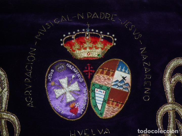 Instrumentos musicales: GALA DE TAMBOR BORDADO A MANO SEMANA SANTA AGRUPACION MUSICAL NUESTRO PADRE JESUS NAZARENO HUELVA - Foto 2 - 73514627