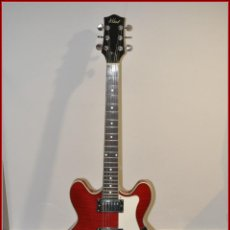 Instrumentos musicales: GUITARRA ELÉCTRICA HOLLOWBODY ALDEN AD-133 FLAMY CHERRY RED. Lote 75074023