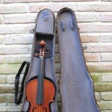 Instrumentos musicales: VIOLIN ANTIGUO CON SU MALETA DE MADERA.. Lote 76800855