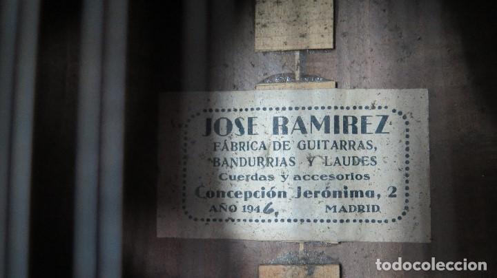 Instrumentos musicales: BANDURRIA DE JOSE RAMIREZ. 1946 - Foto 9 - 76958909