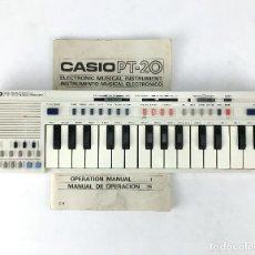 Instrumentos musicales: TECLADO CASIO PT-20 PT 20 CON FUNDA Y MANUAL DE INSTRUCCIONES INSTRUMENTO MUSICAL ELECTRONICO ORGANO. Lote 98249822