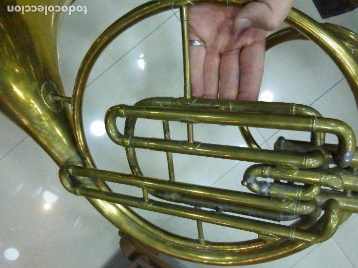 Instrumentos musicales: ANTIGUA TROMPA-INSTRUMENTO MUSICAL VIENTO-COUESNON & CIE-PARÍS-BANDA PROVINCIAL ZAMORA,ORIGINAL 1900 - Foto 10 - 77373717