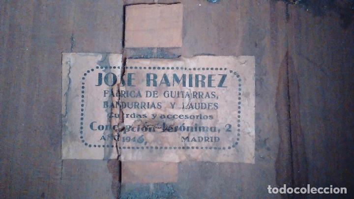 Instrumentos musicales: Bandurria de la fábrica de José Ramirez del año 1946 - Foto 3 - 57342219
