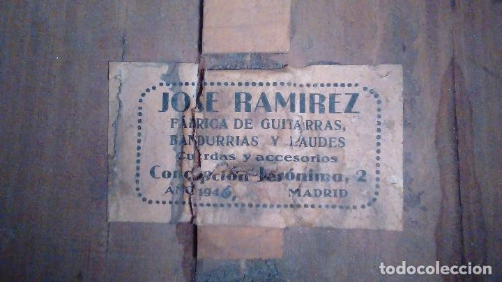 Instrumentos musicales: Bandurria de la fábrica de José Ramirez del año 1946 - Foto 20 - 57342219