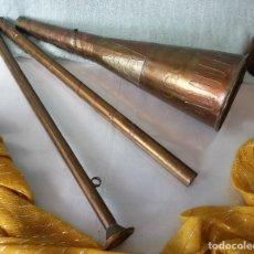 Instrumentos musicales: CORNETÍN ANTIGUO EN COBRE. INSTRUMENTO MÚSICA. OBJETO DE DECORACIÓN.. Lote 78113681
