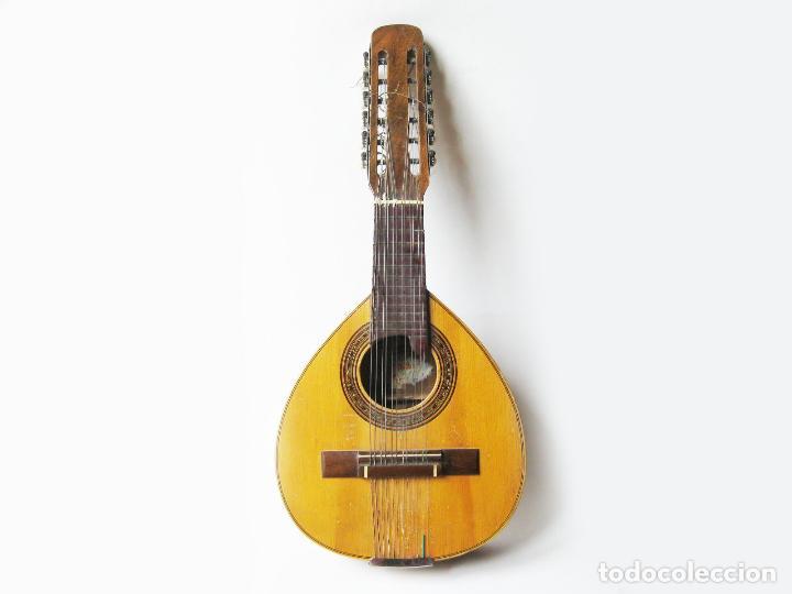 BANDURRIA DE LA FABRICA DE GUITARRAS BANDURRIAS Y LAUDES HIJOS DE VICENTE TATAY - VALENCIA AÑOS 50 (Música - Instrumentos Musicales - Percusión)