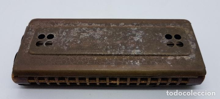 Instrumentos musicales: Armónica antigua en metal y madera de la marca Horner - Foto 4 - 80219769