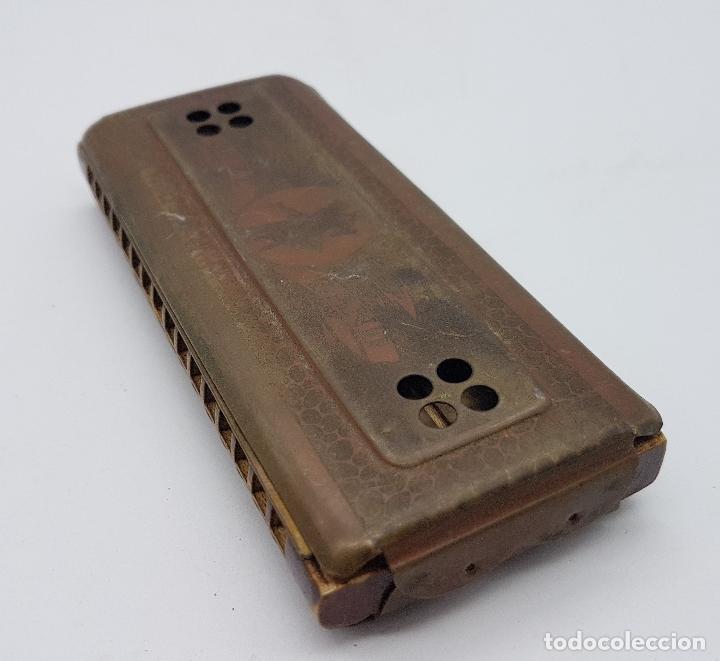 Instrumentos musicales: Armónica antigua en metal y madera de la marca Horner - Foto 5 - 80219769