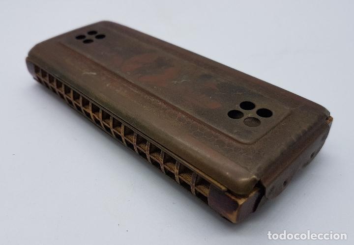Instrumentos musicales: Armónica antigua en metal y madera de la marca Horner - Foto 6 - 80219769