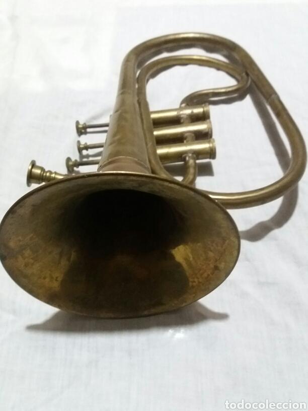 Instrumentos musicales: Trompeta corneta antigua. Completa y rara - Foto 3 - 81032582