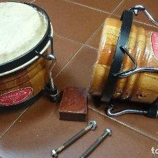 Instrumentos musicales: BONGOS CUBANOS KARAKAITU. Lote 81178432