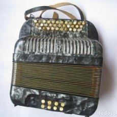 Instrumentos musicales: ACORDEÓN HOHNER CLUB II B CON MALETÍN. Lote 81221728