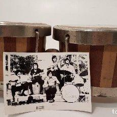 Instrumentos musicales: INSTRUMENTO BONGOS ORIGINALES DEL CONJUNTO LOS MUSTANG (FOTOGRAFÍAS). Lote 82937204