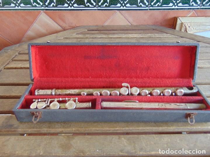 ANTIGUA FLAUTA TRAVESERA MARCADA ORSI MILANO EN CAJA (Música - Instrumentos Musicales - Viento Metal)