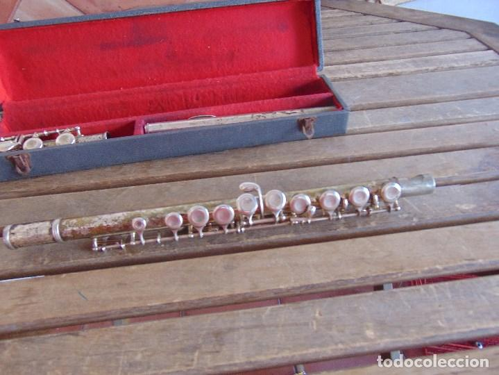Instrumentos musicales: ANTIGUA FLAUTA TRAVESERA MARCADA ORSI MILANO EN CAJA - Foto 6 - 153945178