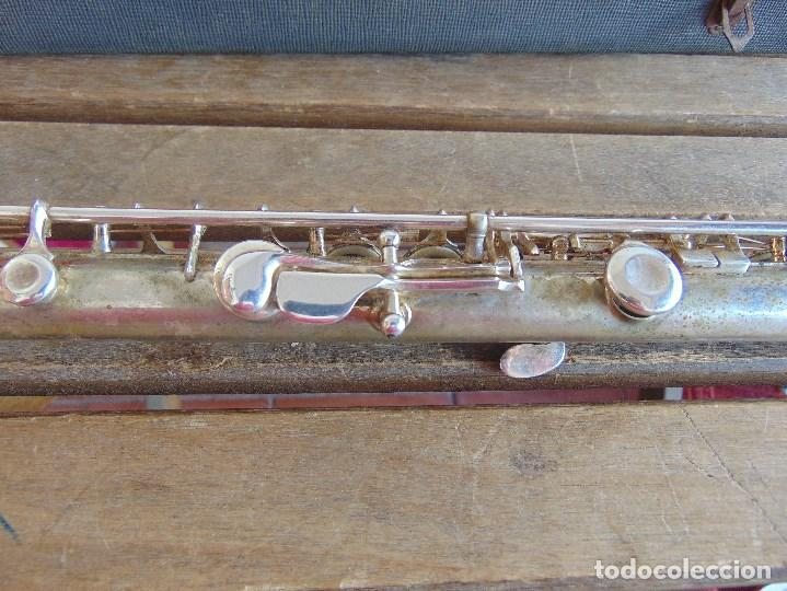 Instrumentos musicales: ANTIGUA FLAUTA TRAVESERA MARCADA ORSI MILANO EN CAJA - Foto 10 - 153945178